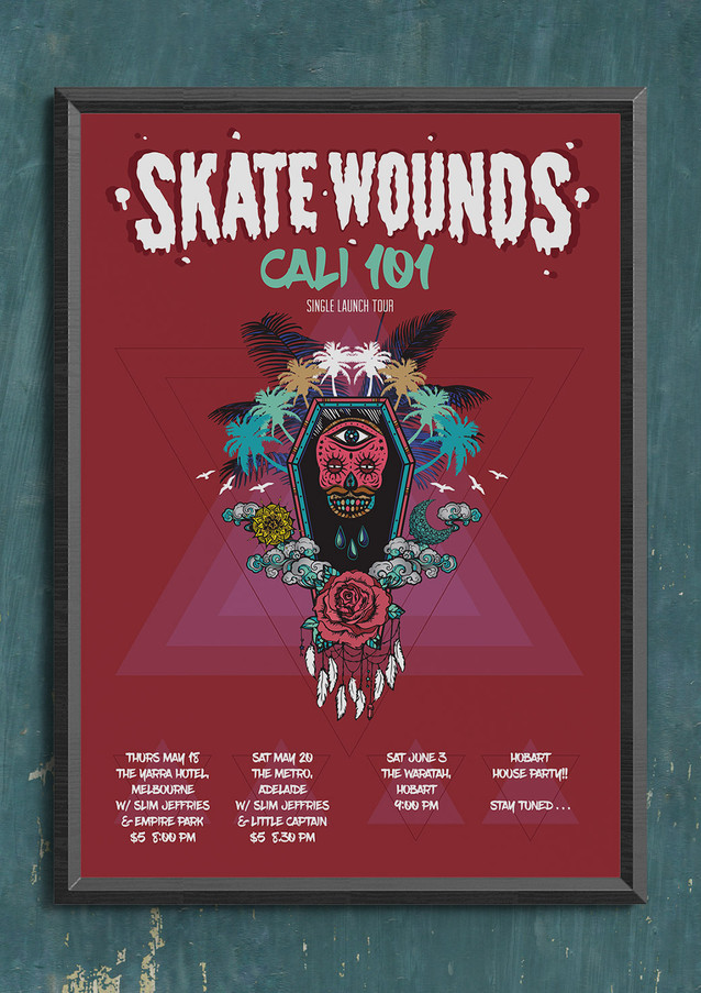 Skate Wounds Tour Flyer