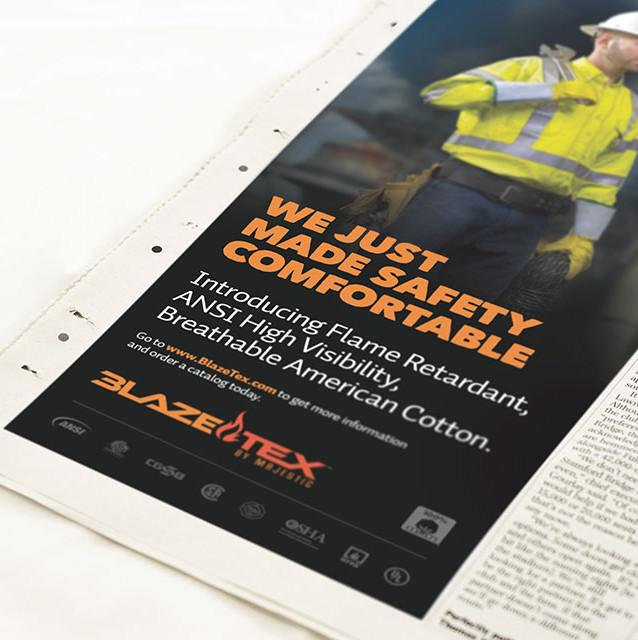 Majestic BlazeTex Print Ad Series