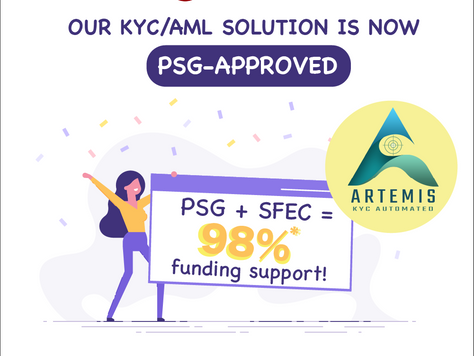 ARTEMIS is now covered under Productivity Solutions Grant (PSG)!