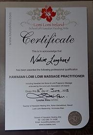 Lomi Lomi Hawaiian Massage Certificate