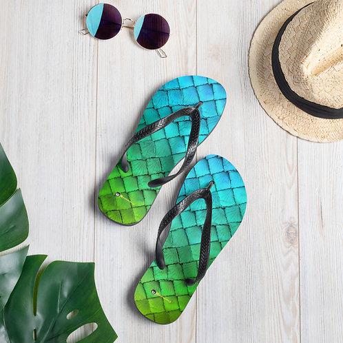 Mermaid Flip-Flops - green blue