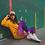 Thumbnail: Mermaid Yoga Leggings - purple yellow