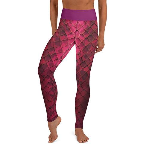 Mermaid Yoga Leggings - Pink
