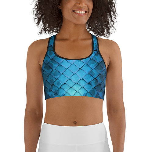 Mermaid Sports bra - blue