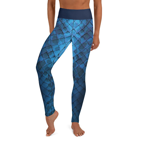 Mermaid Yoga Leggings - Blue