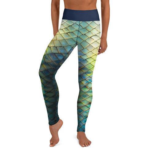 Mermaid Yoga Leggings - guppy