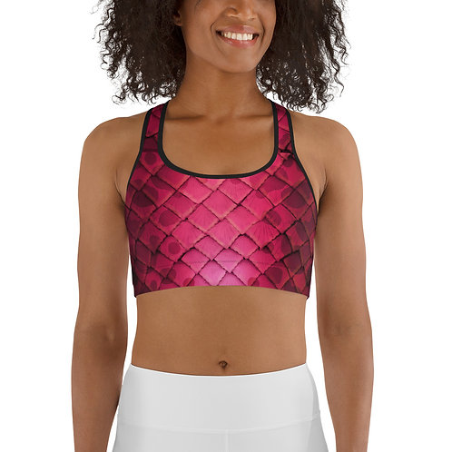 Mermaid Sports bra - Pink