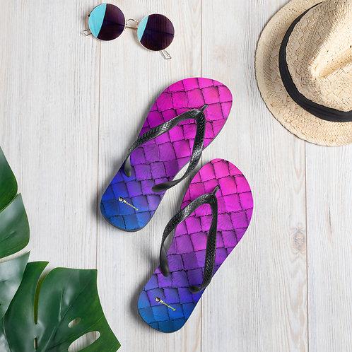 Mermaid Flip-Flops - purple blue