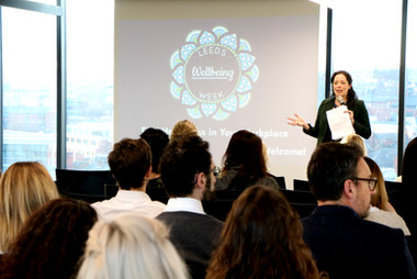 Leeds Wellbeing Week 2018 - Find Happiness in the Workplace event - copyright Mind It Ltd
