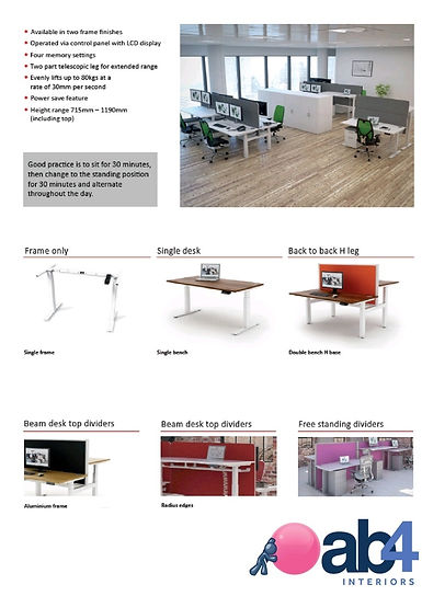AB4 Electric Sit-Stand Desks