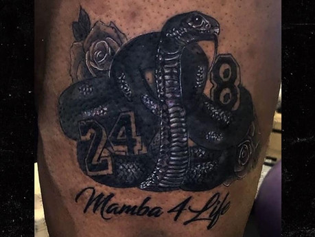 LeBRON JAMES REVEALS HIS NEW TATTOO IN HONOR OF KOBE BRYANT #MAMBA