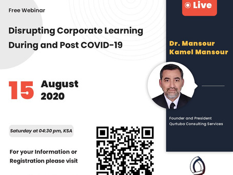 Webinar - Disrupting Corporate Learning During and Post COVID-19