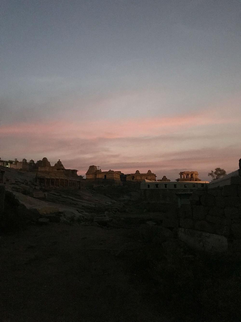Sunset, Hampi