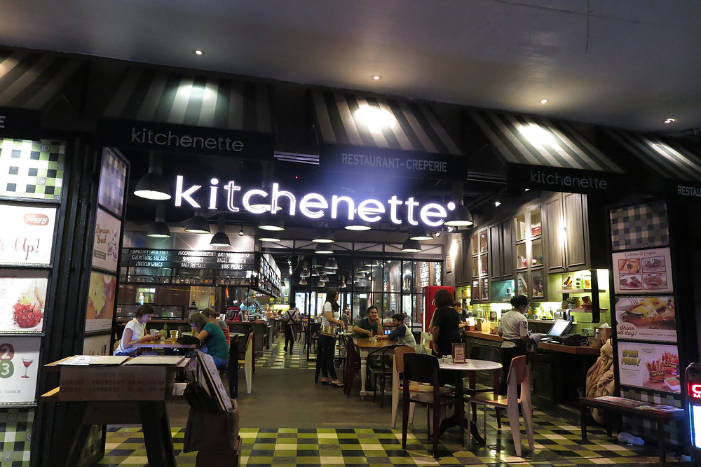 Front facade of the Kitchenette restaurant in Bali