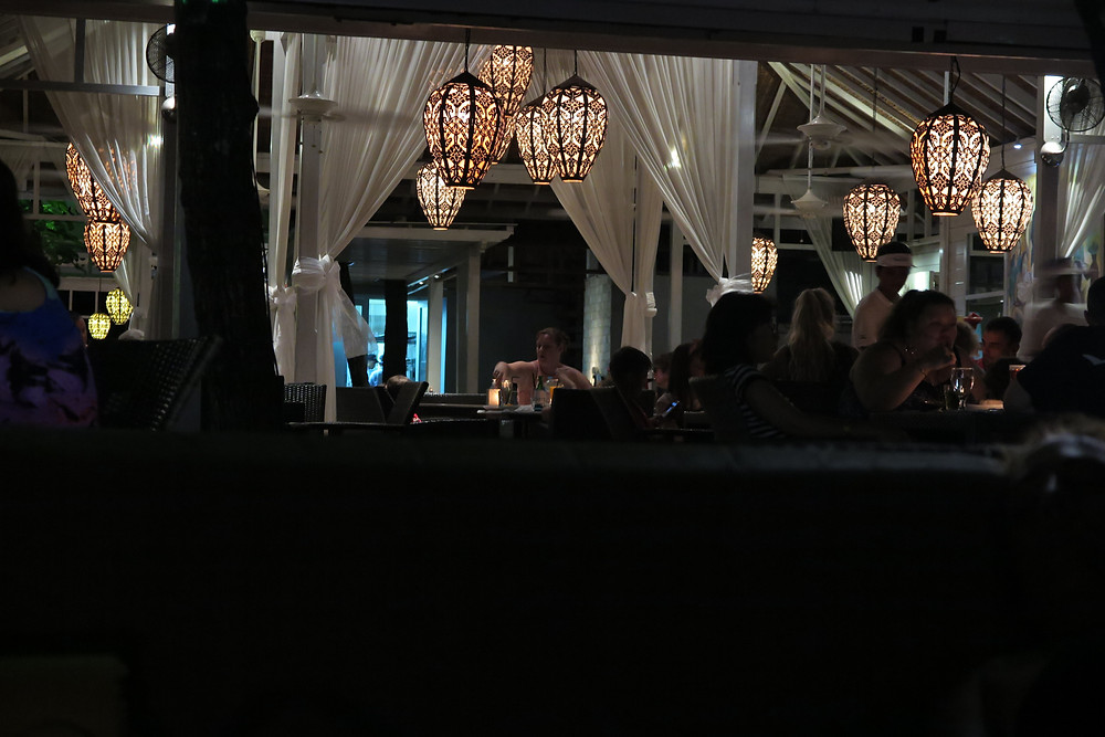 Lights at the boardwalk restaurant
