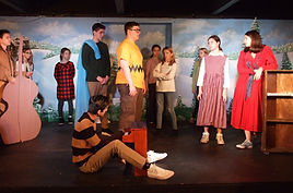 Students perform a Charlie Brown Christmas