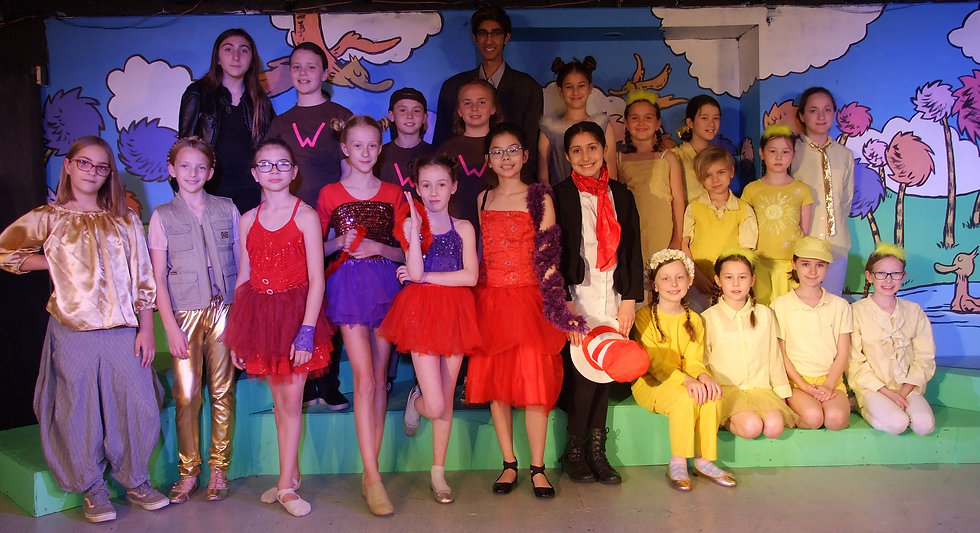 Homepage image of Seussical Cast in costume