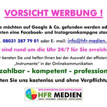 Werbeposting HFR-MEDIEN
