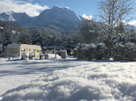 Winteridylle am Campingplatz Pyhrn-Priel