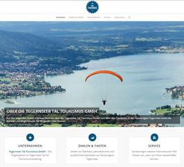 Website für Tourismus GmbH TTT