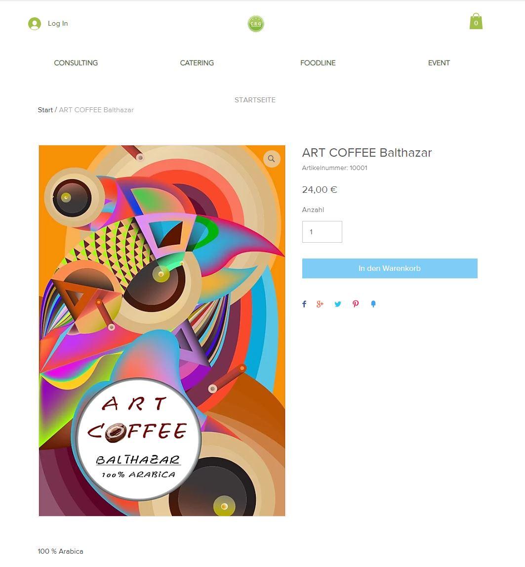 art coffee artikel auswählen