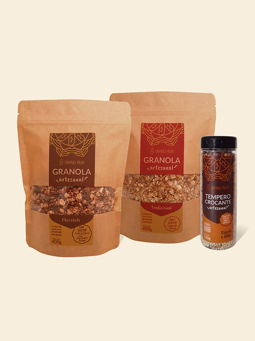 Kit Granolas + Tempero Crocante