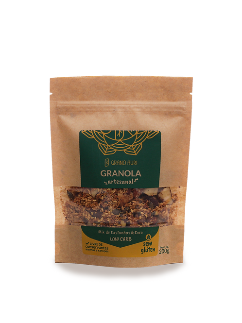 Granola 200g Low Carb mix de castanhas & coco sem glúten