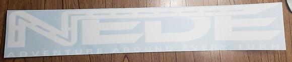 NEDE Window Banner - White