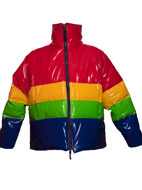 Primary Color Puffer Coat