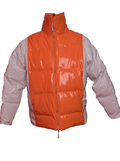 Orange Puffer Coat