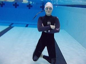 Coach Anna Deep Underwater
