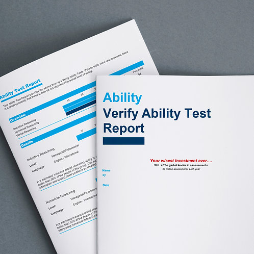 Ability Test (logical, analytical, inductive reasoning) + Result