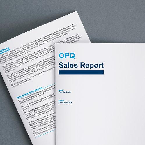 Online Kompetenzen Profil für Verkaufs-Mitarbeiter + Bericht