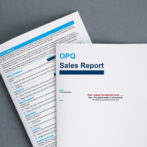 Online competency profiling for Sales Employees + comprehensive report