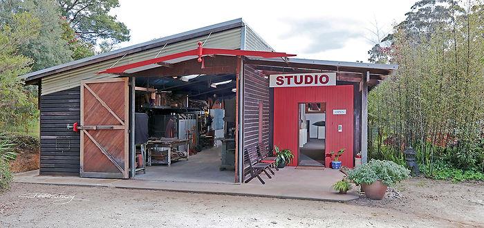 Peter Kovacsy Wood & Glass Studio Gallery in Pemberton Australia