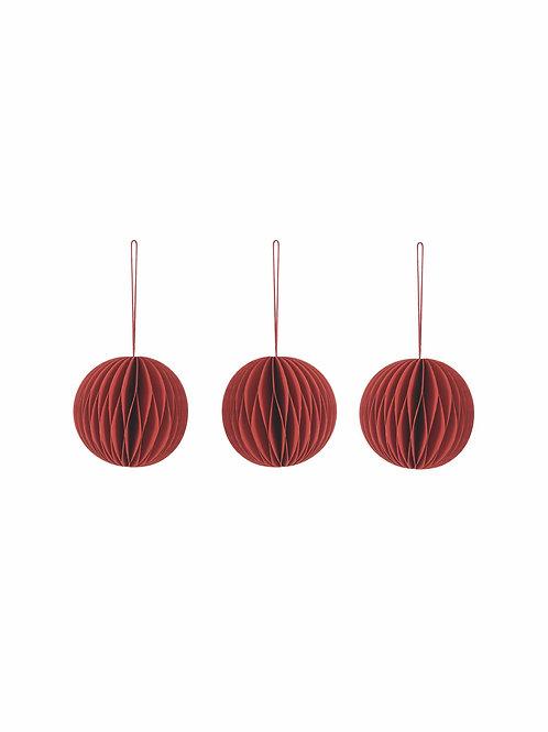 Set of 3 Round Baubles