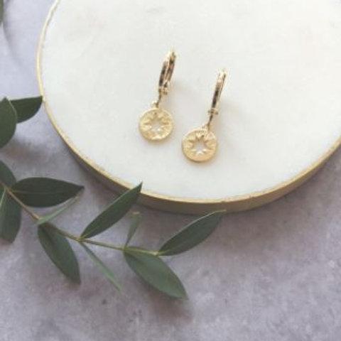 Gold Star Huggie Earrings