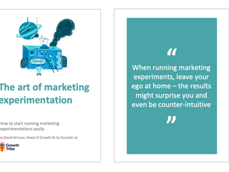 EdTech Marketing Guide #6: Marketing experimentation - David Arnoux @ Growth Tribe