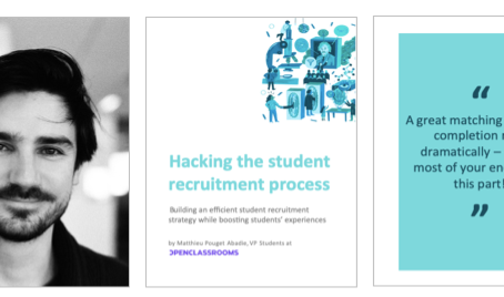 EdTech Marketing Guide #4: Hacking the student recruitment process - Matthieu Pouget Abadie, VP Stud