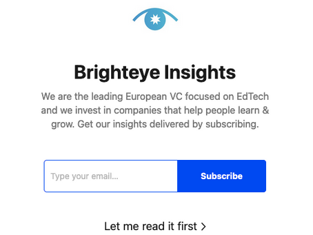 Brighteye Updates: Substack
