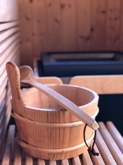 Die eigene Sauna am Chalet Mamablog Papablog Familienblog Reiseblogger Berlin
