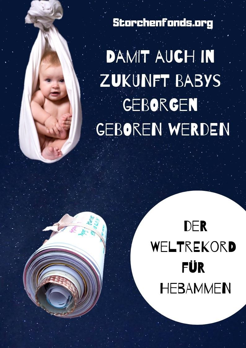 Der Weltrekord für Hebammen mit dem längsten Klagebrief der Welt - für eine gewaltfreie Geburt