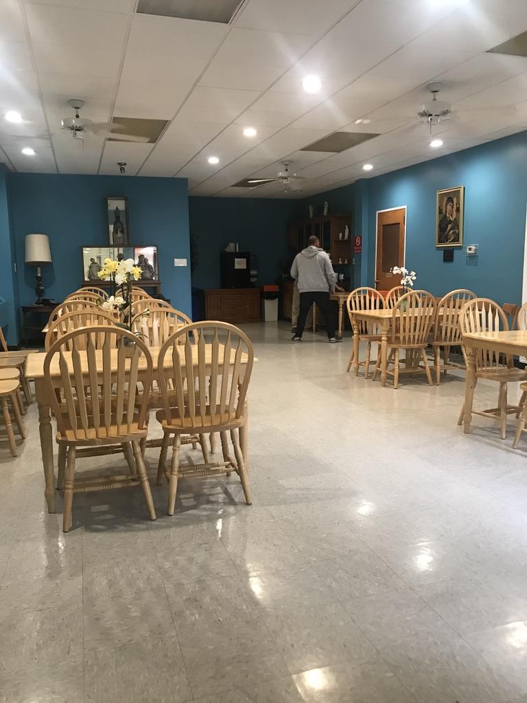 Retreat house dining area