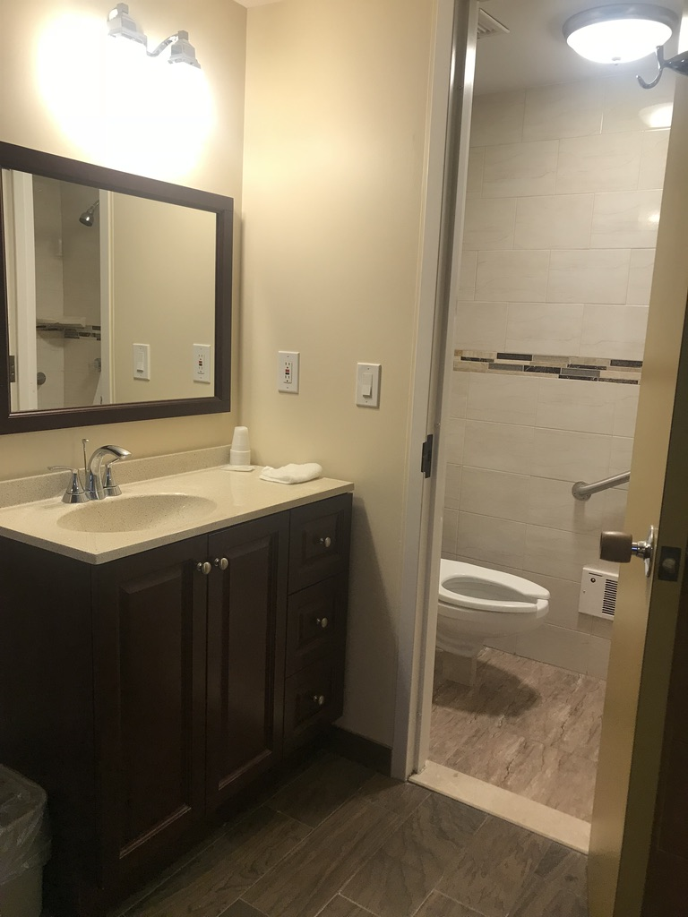 Retreat house bathroom
