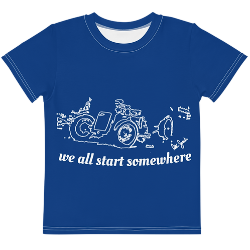 We all start somewhere White kids t-shirt