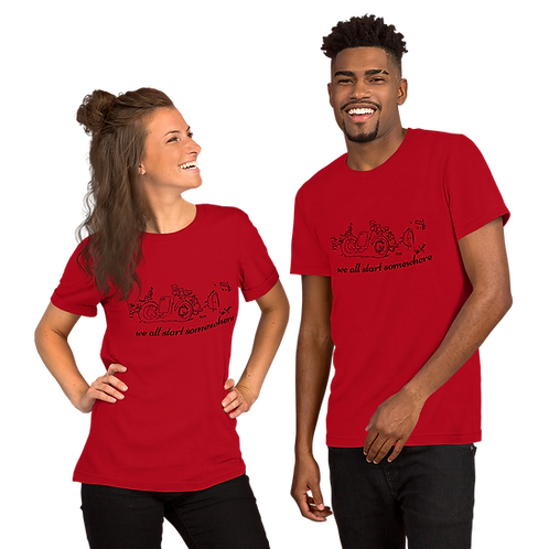 Unisex We all start somewhere Short-Sleeve T-Shirt Bl