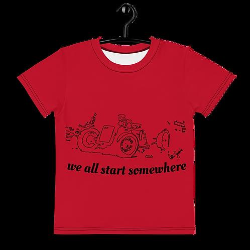 We all start somewhere Black kids t-shirt