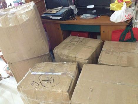 又一批货到广州,对不起啦,这批货迟了两天