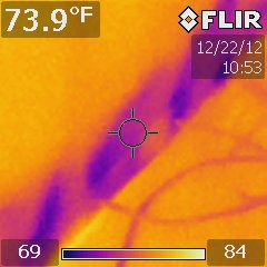 Thermal Imaging cameras are used to verify completion of drying