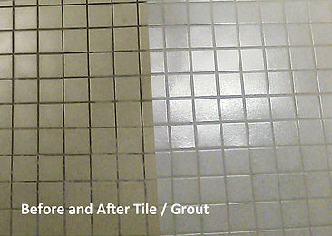 Tile Scrub Before and After